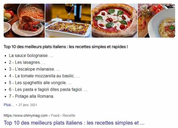 Top 10 des meilleurs plats italiens