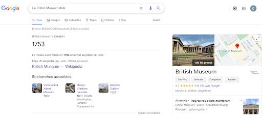 Le British Museum date