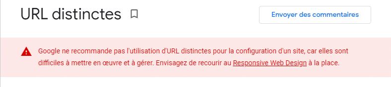 URL distinctes