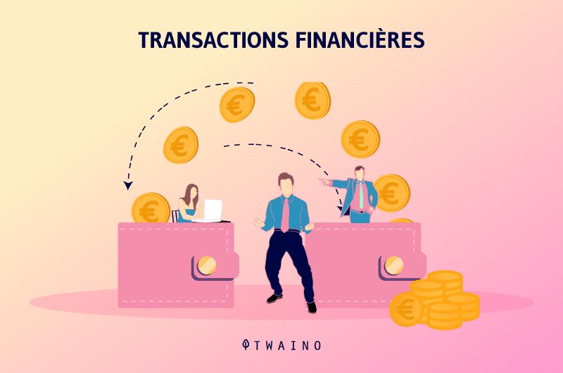 Pages de shopping ou de transactions financières