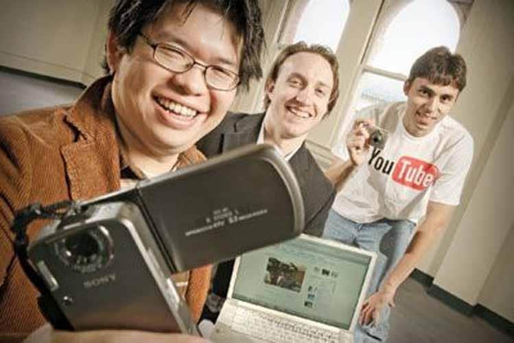 Steve Chen, Chad Hurley et Jawed Karim