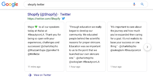 Shopify twitter