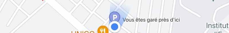 Vous etes gare pres d ici