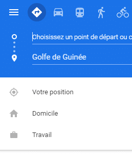 Destination maps Golfe de Guinee