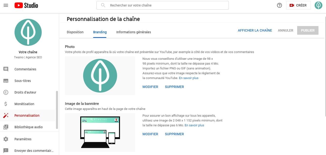 Branding Youtube