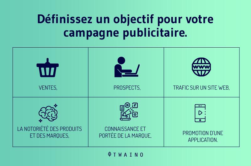 Definissez un objectif pour votre campagne publicitaire