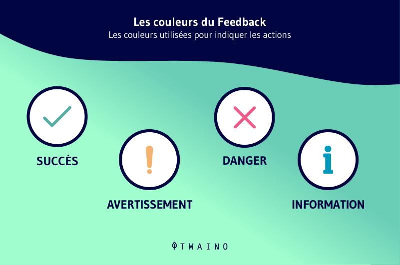 Les couleurs de feedback