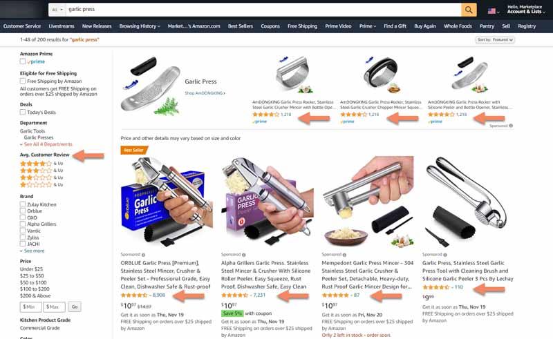 Avis clients sur un site de e commerce