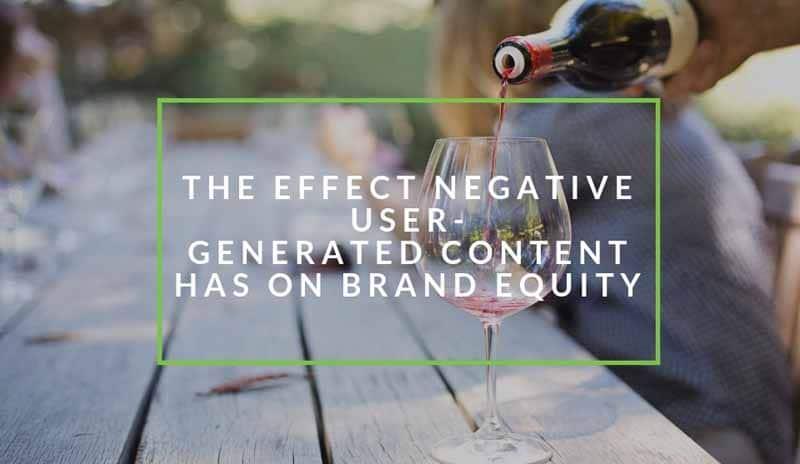 Les effets de l UGC negatiif sur l identte de marque