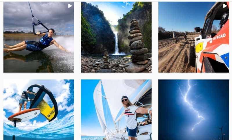 Photos prises par les caméras GoPro