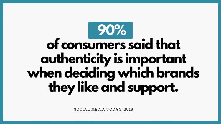 90 pour cent des consommateurs disent que l authenticite est importanre