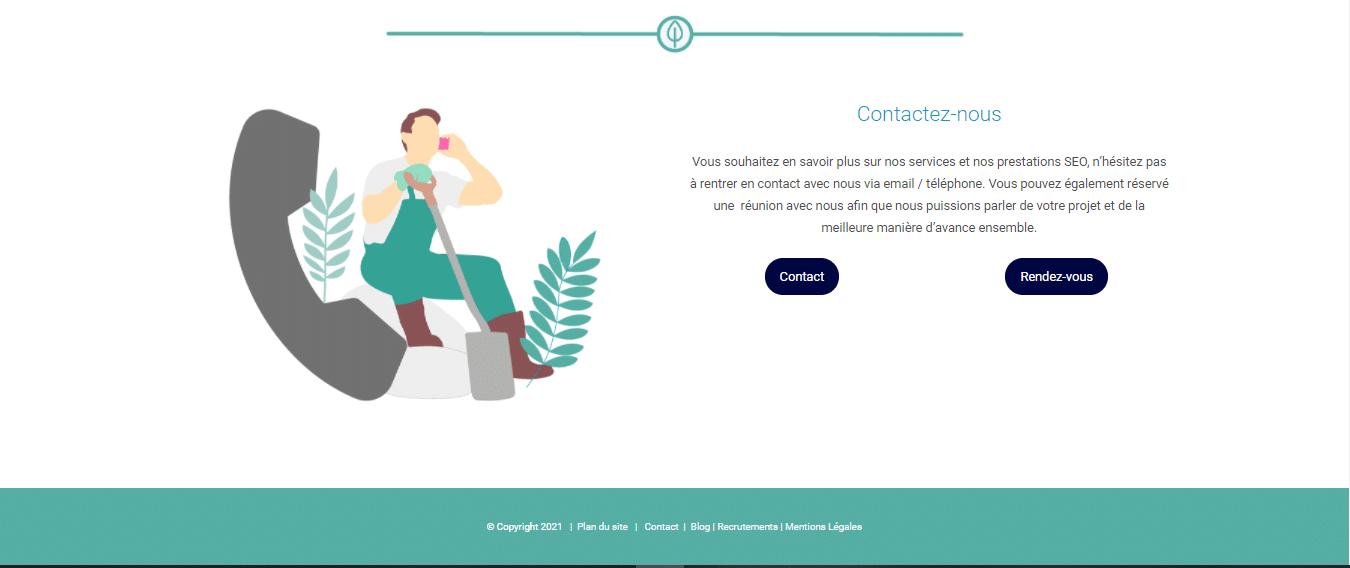 Pied de page site Twaino