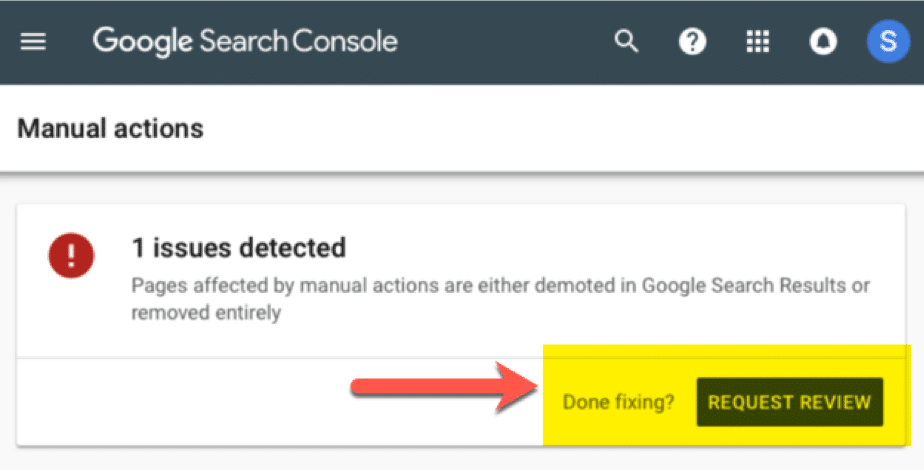 Issue detected GSC