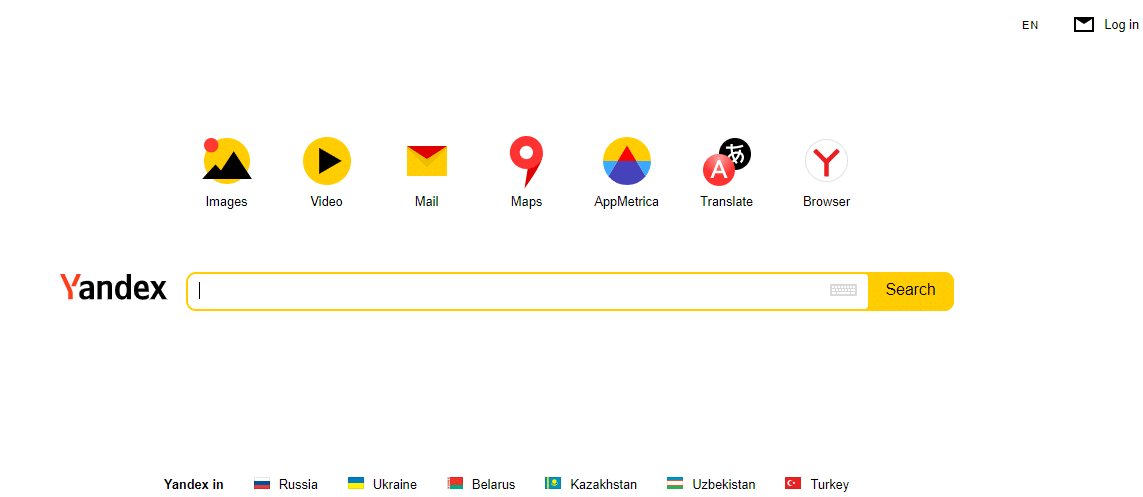 Portail Yandex