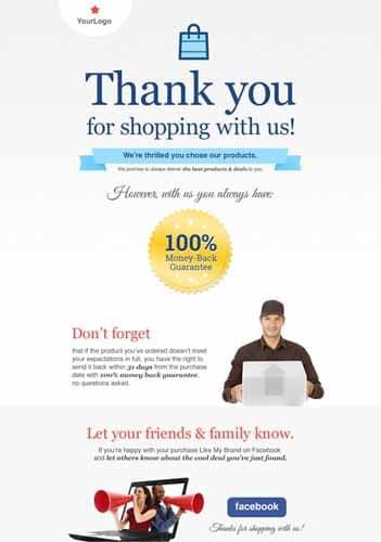 Remerciements a vos clients