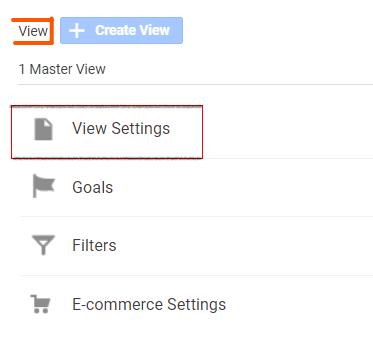View settings